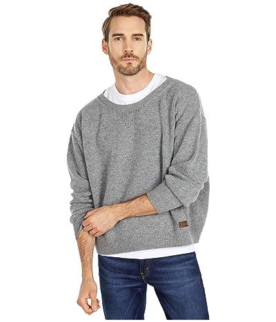 DSQUARED2 Boxy Fit Crew Neck Sweater (Melange Grey) Men