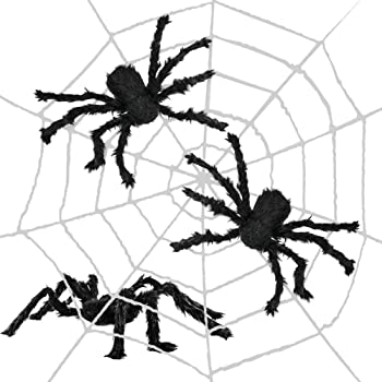 Approx 50cm In Lengt Halloween Whole Room Spider Decoration Set Davies 10180