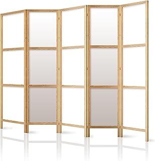 comprar comparacion murando - Biombo XXL 225x171 cm - 5 Paneles Lienzo de Tejido no Tejido Tela sintética Separador Madera Design de Moda Hech...