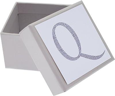 White Cotton Cards Alphabetics Inicial Q Mini Caja, Multicolor