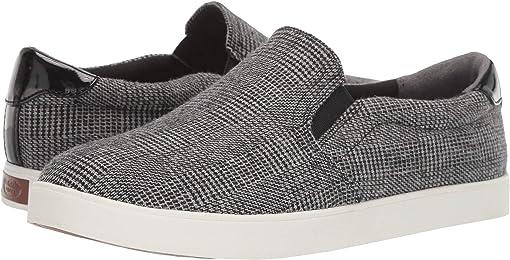 Black/Grey Plaid Fabric