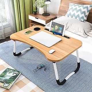 Astory Table de lit pour ordinateur portable avec pieds pliables et emplacement pour tasse pour manger le petit déjeuner, ...