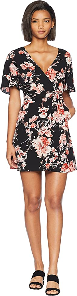 Wait Until Dark Floral Rap Dress