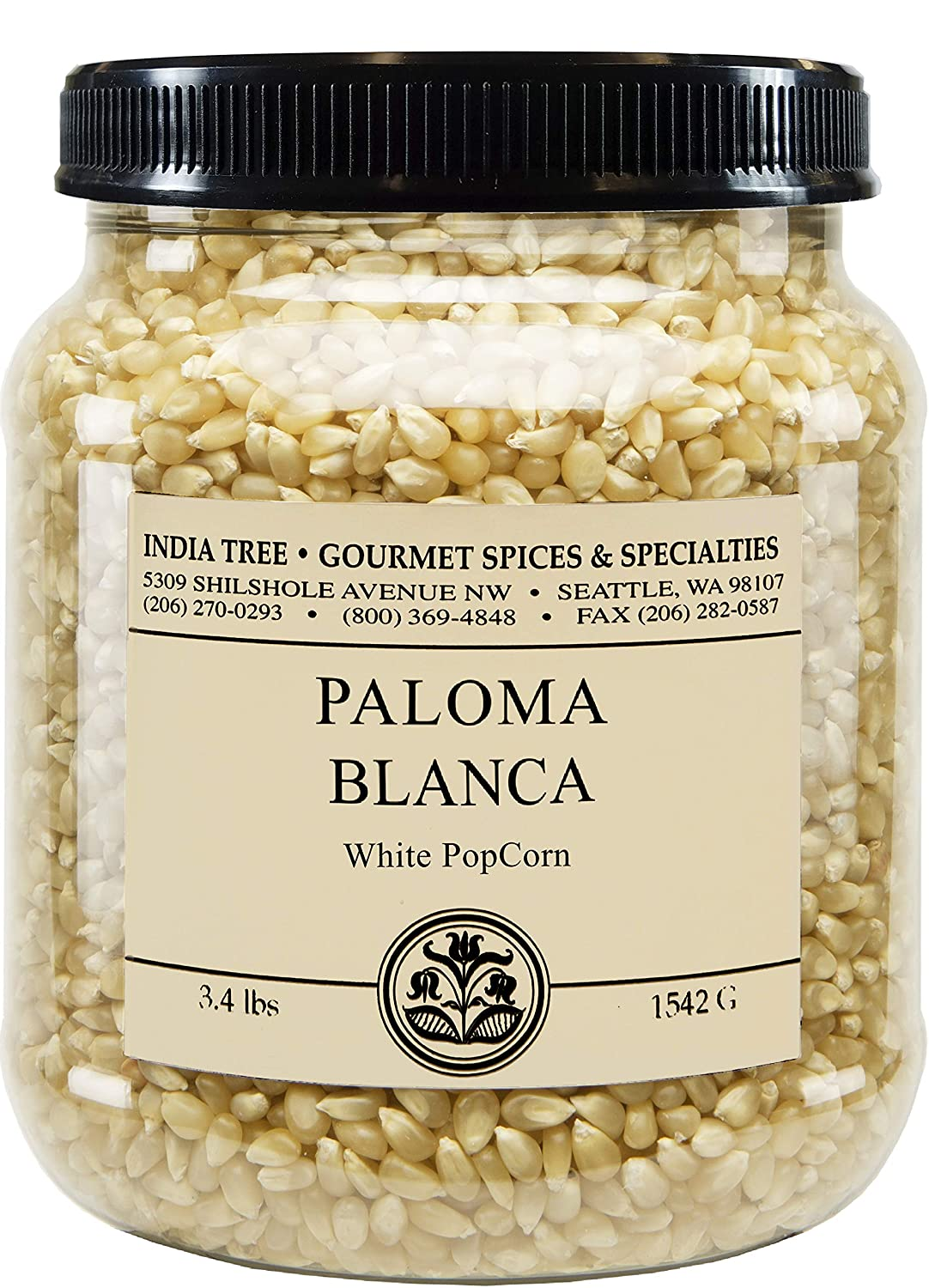 India Tree Paloma Max 88% OFF Blanca White PopCorn Excellent Pack 2 lb 3.4 of