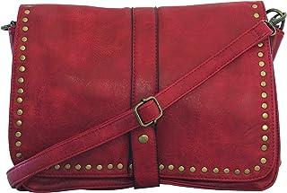 dfc24e5cd5 Chapeau-tendance - Sac a main bandoulière vintage rouge - - Femme