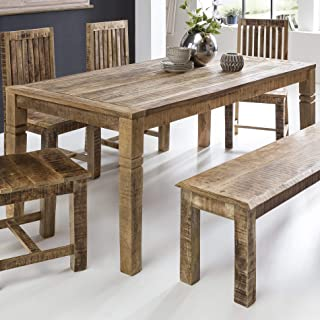 Amazon.es: mesas rusticas comedor - Rectangular
