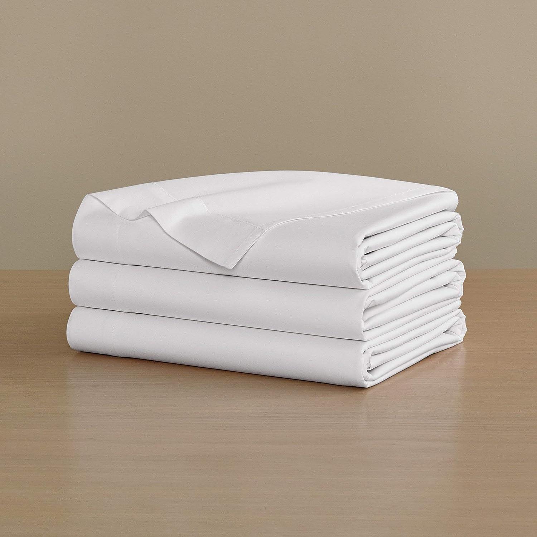 送料無料 一部地域を除く H by Frette Percale Top Sheet Bed Twin - Luxury セールSALE%OFF All-White