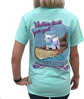 Southern Attitude Whatever Floats Your Goat Seafoam Green Short Sleeve Women`s Shirt