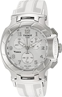 Women's T0484171701200 T-Race Analog Display Swiss Quartz White Watch