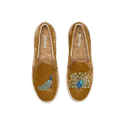 Soludos Velvet Peacock Sneaker (Gold) Women