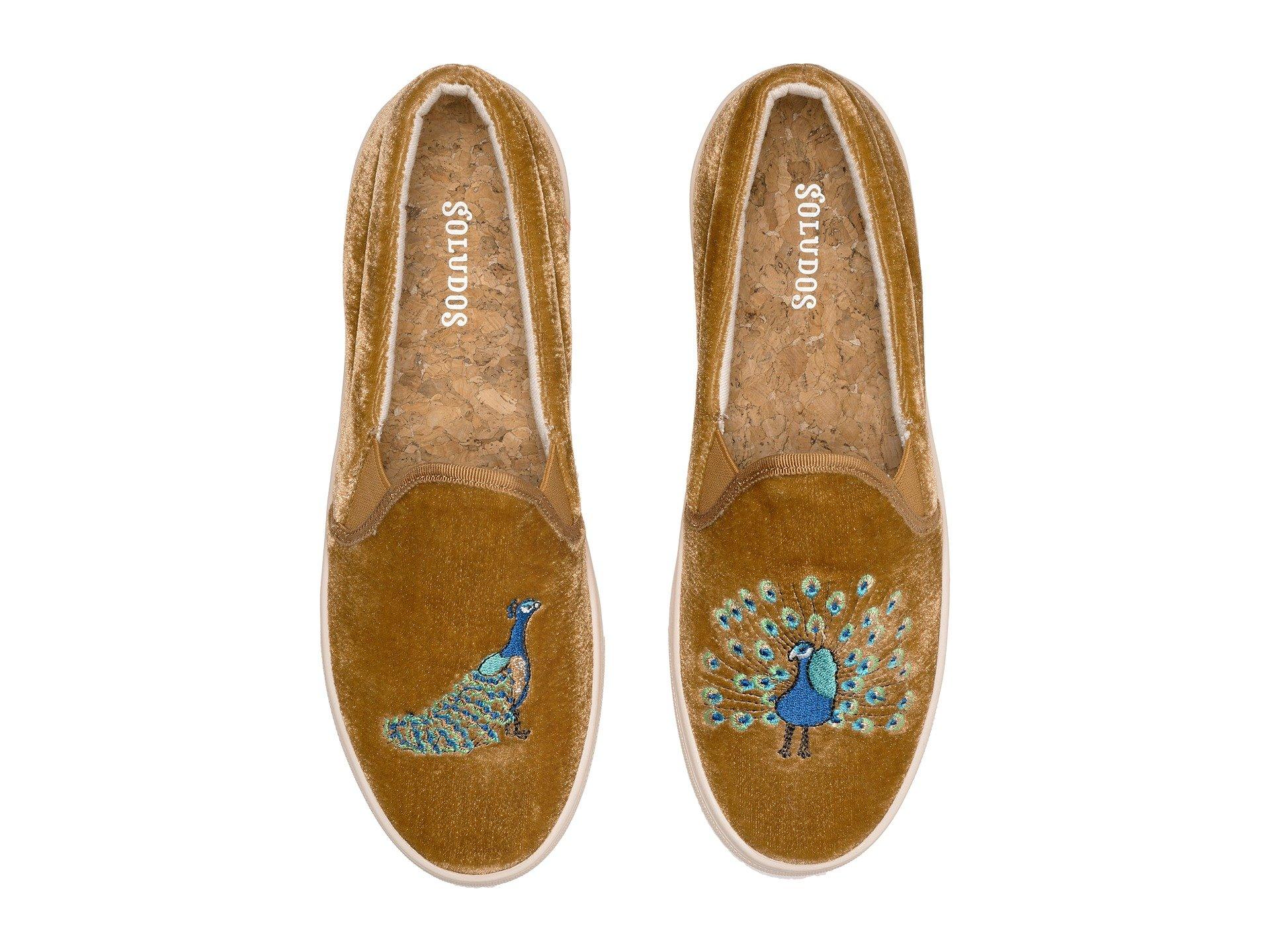 Sneaker Peacock Gold Soludos Sneaker Peacock Velvet Soludos Velvet 7RYvv