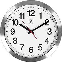 ZOYER - Reloj de pared grande y redondo, silencioso,