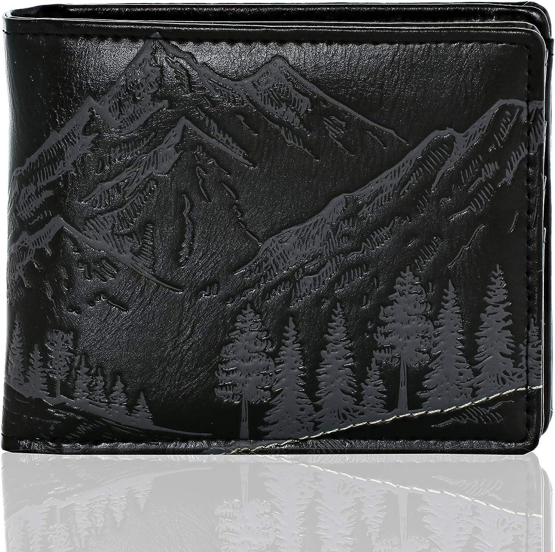 Shagwear Great Outdoors Men's Bifold Wallets (Mountain Scene)