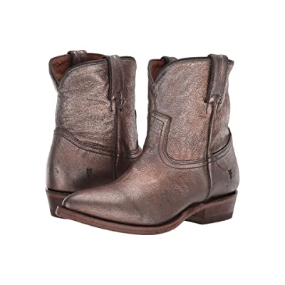 Frye Billy Short (Golden Silver Vintage Metallic) Cowboy Boots
