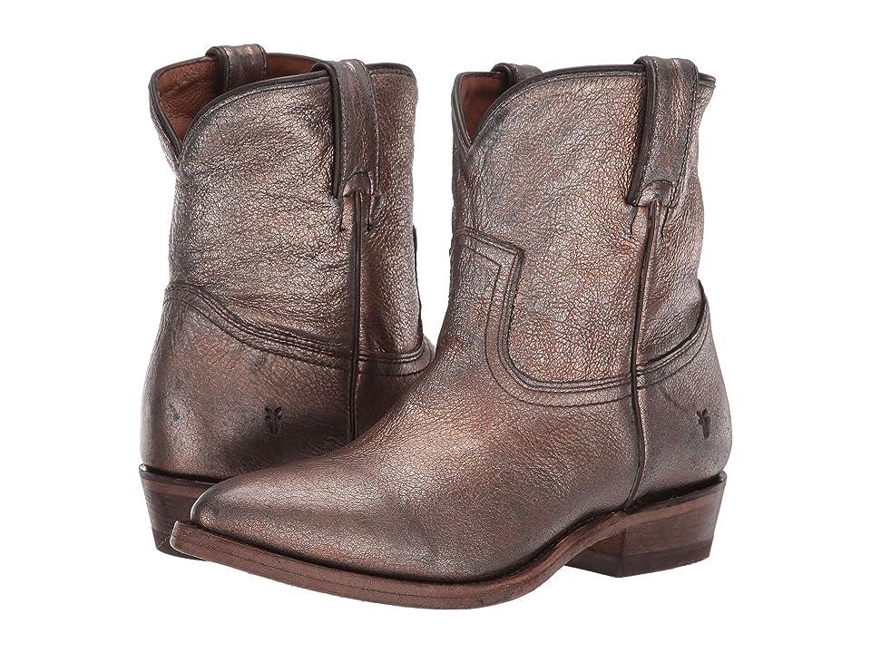 Frye Billy Short (Golden Silver Vintage Metallic) Cowboy Boots