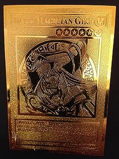 Yugioh Dark Magician Girl English Golden Metal Card Custom Made