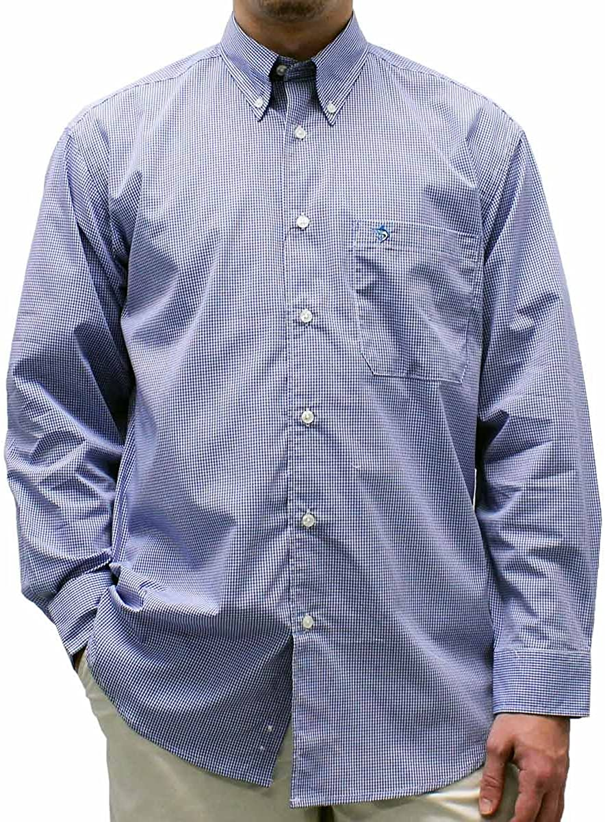 BISCAYNEBAY Biscayne Bay Big and Tall Long Sleeve Check Shirt