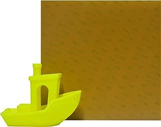 Prozix Amber PEI Sheet 3D Printer Build Surface 225mm x 145mm Ultem 1000 Build Surface for Flashforge Creator Pro, CTC3D, Wanhao Duplicator 4, QiDi 3DP, Makerbot Replicator 2x