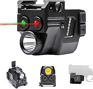 KIARSWE Shockproof Laser Light Combo, 500 Lumens Strobe Light Laser Sights for Handguns, Red or Green Laser for Pistol wit...