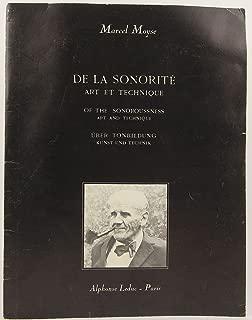 De la Sonorite: Art et Technique (French, English, German and Japanese Edition)
