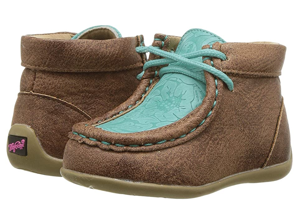 M&F Western Kids Mia (Toddler) (Tan/Turquoise) Cowboy Boots