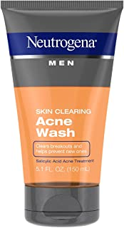 Neutrogena Men's Skin Clearing Acne Wash, 5.1 Ounce (Pack of 2)