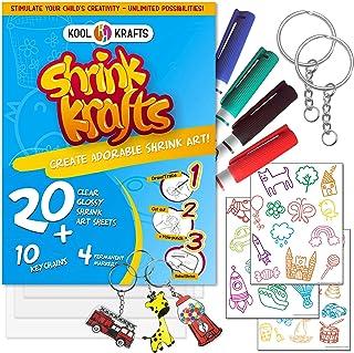 Shrink Krafts | Shrinky Paper Kit for Kids | Arts and Crafts for Girls & Boys Ages 6-12 | Craft Kits Art Set | Indoor DIY ...