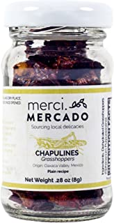 NON PERISHABLE HIGH PROTEIN CONTENT - Chapulines (grasshoppers) - Gourmet edible insects from Oaxaca Mexico (small jar) (Plain)