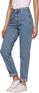 Women's Jeans, Evensleaves High Waist Solid Vintage Straight-Leg Denim Pants