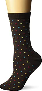 Hot Sox Women's Pin Dot Heart Socks