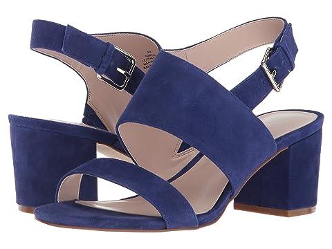 Heel Block West Nine oscuro Forli azul de Sandal gamuza qRtE4HEw