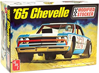 AMT 1965 Chevrolet Chevelle Stock Car - Super Detailed 1/25 Scale Model Stocker Model Kit - Comes with Decals