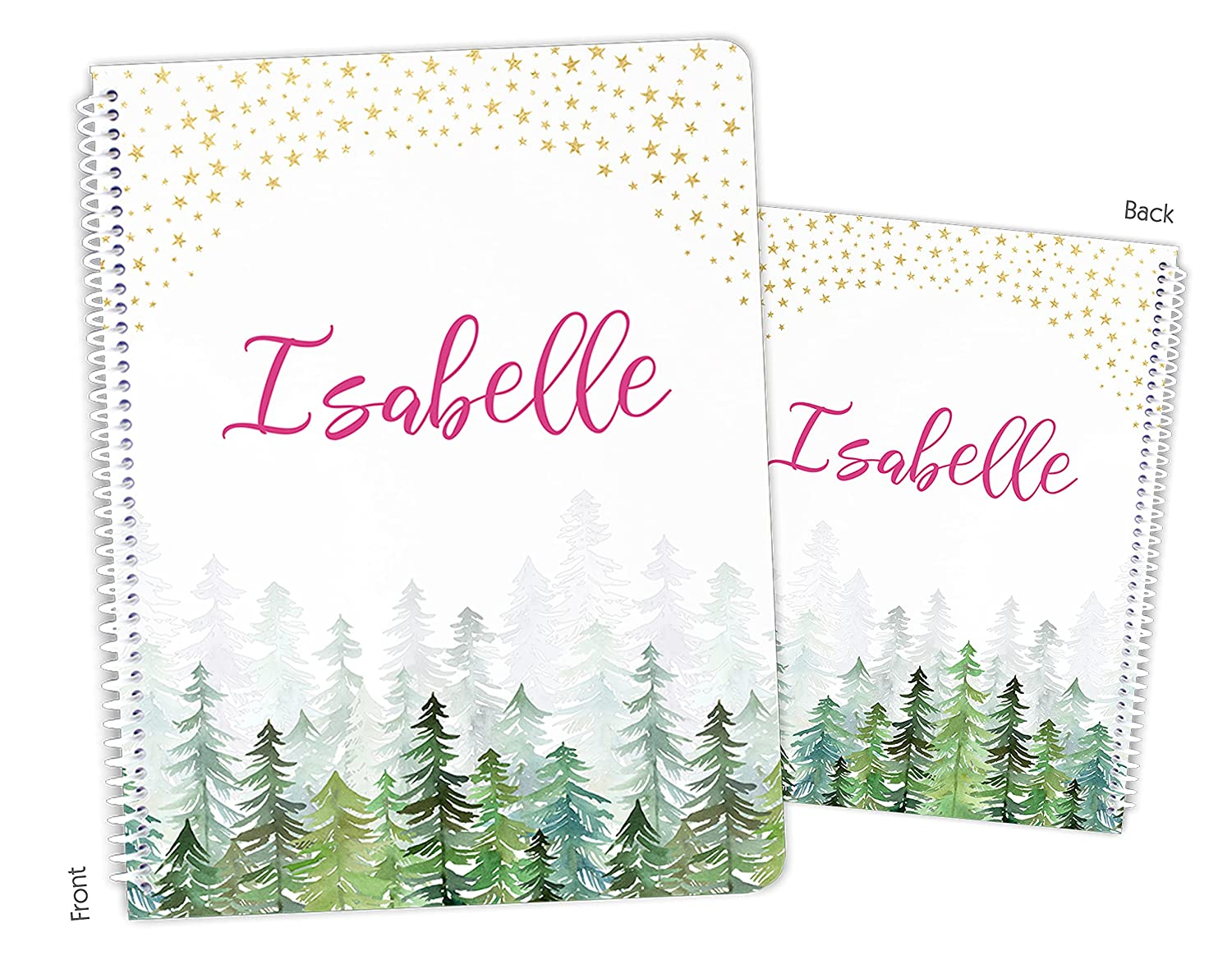 Personalized Stars service Sky Forest Max 53% OFF Trees Spiral Bound Camping Camp No
