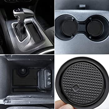 Black /& Red 4 Pcs KENPENRI Anti Dust Mats for 2015-2020 Dodge Charger Cup Holder Insert /& Center Console Liners Honeycomb Pattern /& Non Slip Cup Coaster Inserts