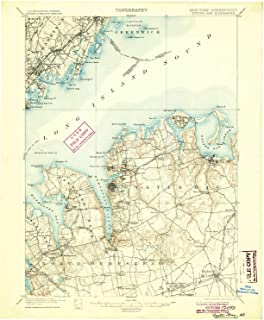 YellowMaps Oyster Bay NY topo map, 1:62500 Scale, 15 X 15 Minute, Historical, 1900, Updated 1904, 20.1 x 16.6 in