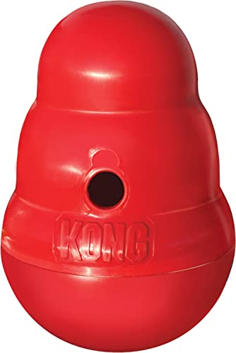 KONG - Wobbler - Interactive Treat Dispensing Dog Toy, Dishwasher Safe - for Small Dogs