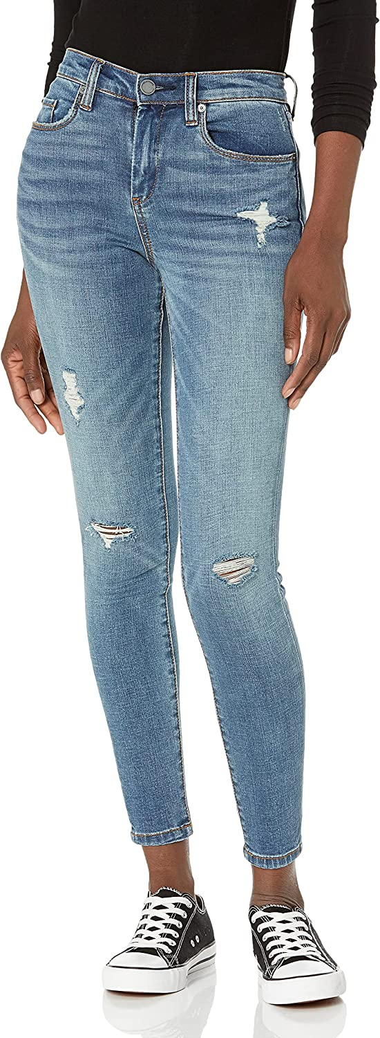 BLANKNYC Women's Year-end annual account The Bond Pants Rise Reservation MID Skinny
