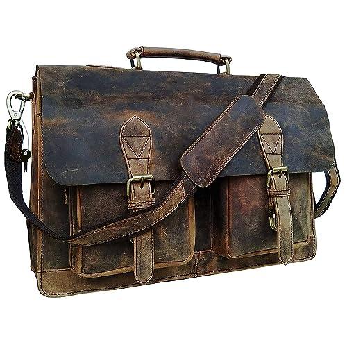 ba4db4d55e47 Cuero Retro Buffalo Hunter Leather Laptop Messenger Bag Office Briefcase  College Bag (15 inch)