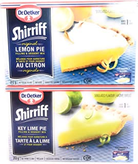 2ct Bundle of Pie Filling Includes:1 Lemon Pie Filling 212g, 1 Key Lime Pie Filling 212g, (Imported from Canada)