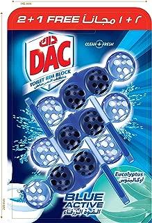 DAC Blue Active Eucalyptus Toilet Blocks, 3 x 50 gm