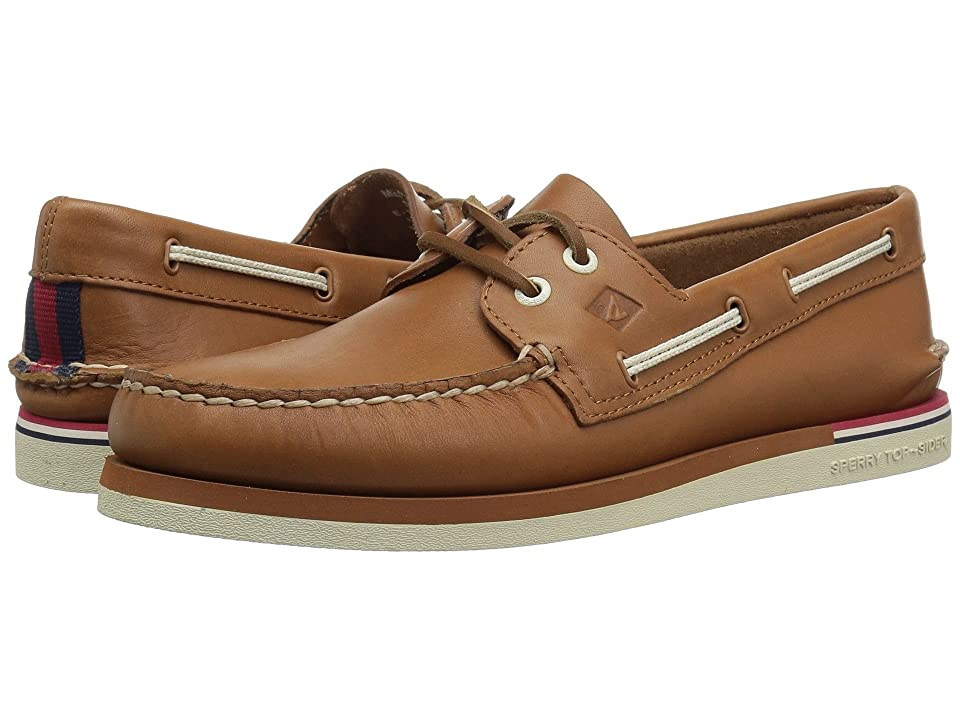 Sperry A/O 2-Eye Nautical Leather (Tan Leather) Men