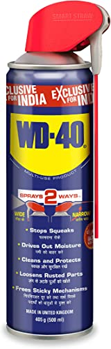 Pidilite WD 40 500 ml Multipurpose Smart Straw Spray for Auto Maintenance Home Improvement Loosens Stuck Rust Parts Removes Sticky Residue Descaling Protectant Cleaning Agent for Multi Use