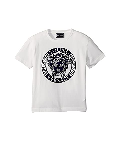 Versace Kids Short Sleeve Medusa Logo T-Shirt (Toddler/Little Kids)