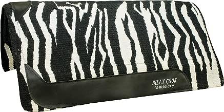 Billy Cook Saddlery Zebra Vip Pad Black/White 34
