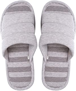 Memorygou Bedroom Slippers - Soft Comfy Memory Foam Casual Slip-on Indoor Slippers for Women/Men Anti-Slip and Breathable
