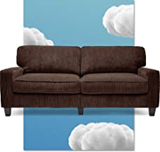 Serta Palisades Upholstered Sofas for Living Room Modern Design Couch, Straight Arms, Soft Fabric Upholstery, Tool-Free As...