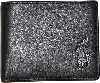 Polo Ralph Lauren Men Big Pony Logo Lambskin Billfold Wallet (One size, Black)