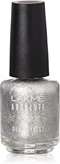 Lakmé Absolute Gel Stylist Nail Color, Silver Glimmer, 15 ml