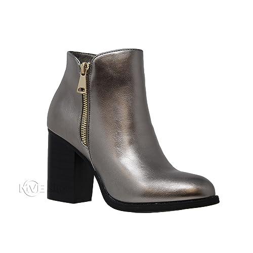 64882cf5e1ab MVE Shoes Womens Stylish Criss Cross Open Toe Side Zipper - Comfortable  Ankle Boot