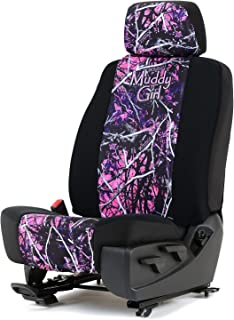 Outlaw Products Moonshine Muddy Girl Neoprene Low Back Bucket Seat Cover W/Headrest Cover